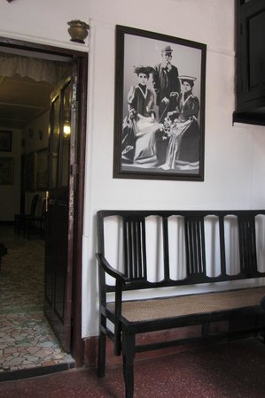 WelcomHeritage Panjim Inn: Feature at the reception area.  Shades of Old Goa