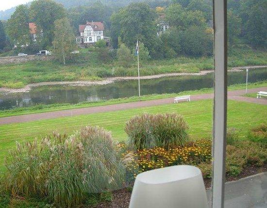Am Kurpark : Aussicht beimFrühstück im Restaurant