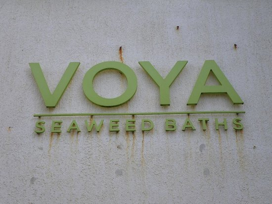 Voya Seaweed Baths: The Sign Outside