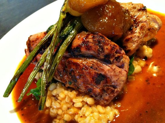 Rue Dumaine: grilled pork tenderloin medallians, barley