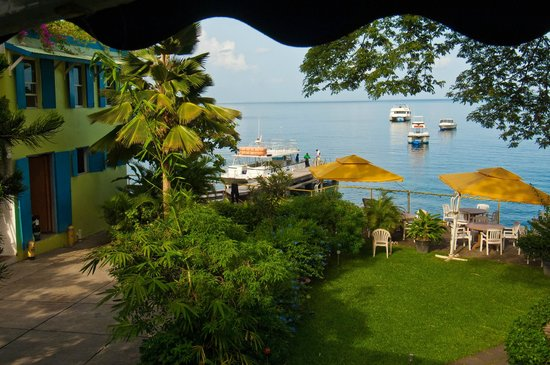 Castle Comfort Diving Lodge/Dive Dominica: Castle Comfort Lodge - View from breakfast table