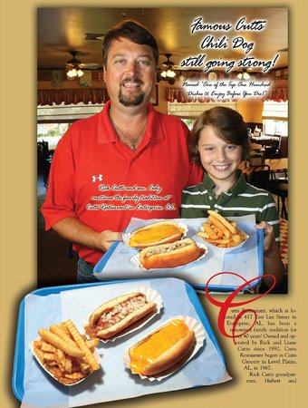 Rick Cutts, Owner and Son Cody and World Famous Chili Dogs, etc.