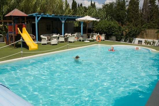 Villa Katerina Studios: Picture from 2009 - children playing in the pool