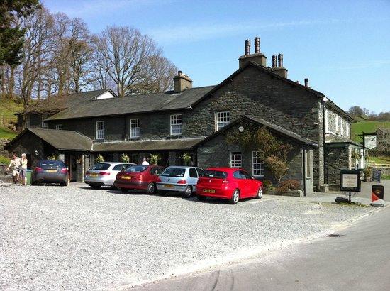 The Three Shires Inn - Side View & Car Park