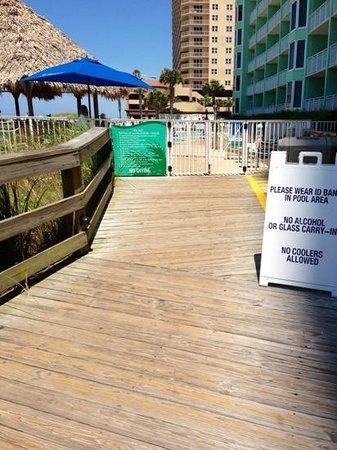 Wyndham Vacation Resorts Panama City Beach : Pool entrance