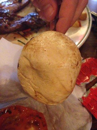 Hungry Horse - The Turf Tavern: Raw uncooked Mushroom