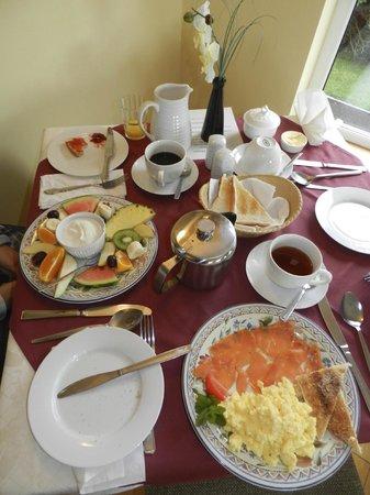 Rockmount House : perfektes Frühstück