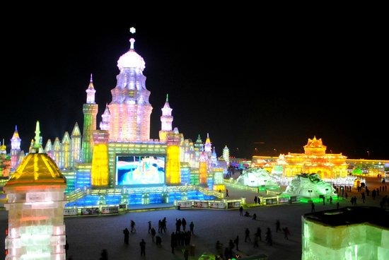 Харбин, Китай: Shiny Ice and Snow World in Harbin