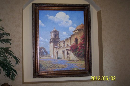 Comfort Suites Alamo/Riverwalk: Photo of print from hotel - San Jose mission