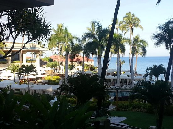 Four Seasons Resort Maui at Wailea: View from one of the patio areas
