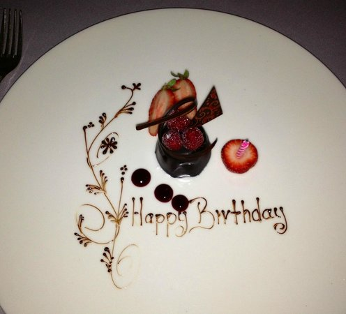 The Club Grill : Special birthday treat AFTER dessert!