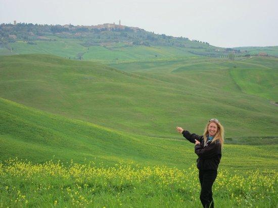 Agriturismo Cretaiole di Luciano Moricciani: View from Cretaiole toward Pienza