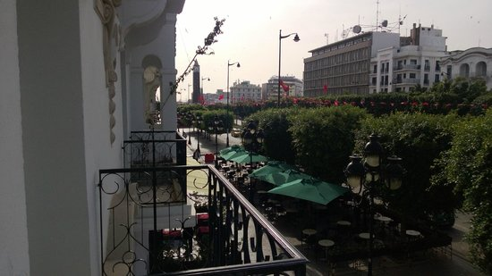 Carlton Hotel Tunis : View from the breakast area of the hotel