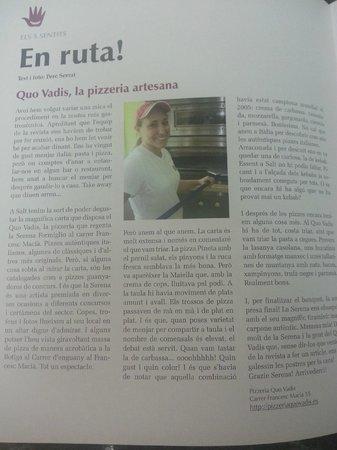 Pizzeria Quo Vadis: revista 17190 univerSALT