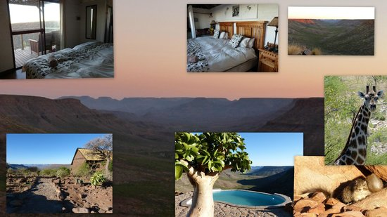 Grootberg Lodge: Bungalow mit Aussicht