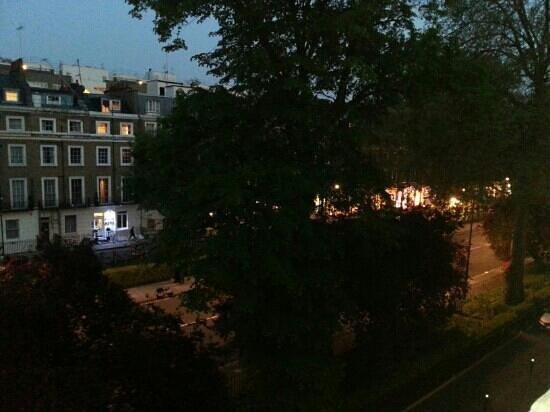 The Gresham Hotel: la vista sulla strada