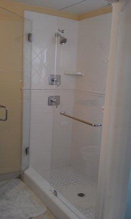 Marina Beach Motel: Above par shower; 2 shower heads