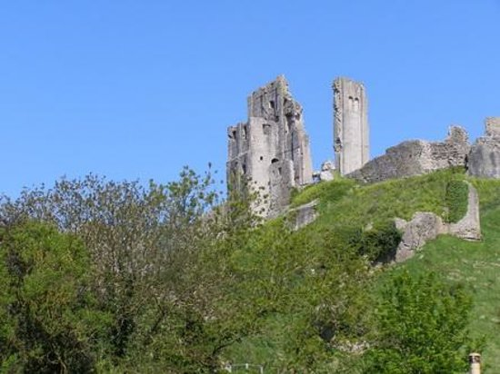 Challow Farm House Bed and Breakfast: Corfe Castle, you can see it from the house