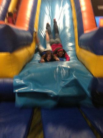 The Zone Family Fun Center: Yes that's a picture of our youth group teens... having a blast!