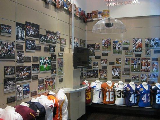 Fiesta Bowl Museum: Photos & jerseys