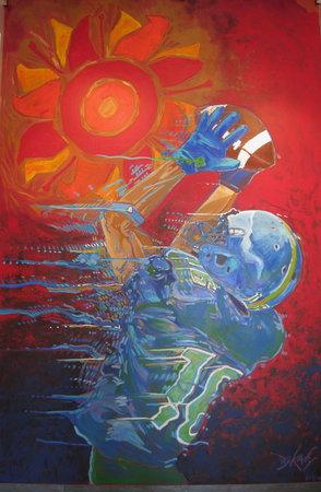 Fiesta Bowl Museum: Painting by John Bukaty