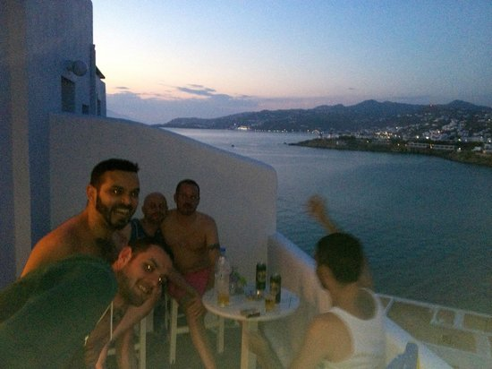 Akrotiraki: View from the upstairs balconies