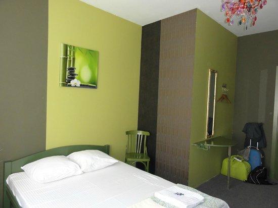 Riga Hostel: habitación doble final del pasillo