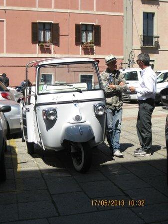 Marina di Castello: Claudio and his tour vehicle