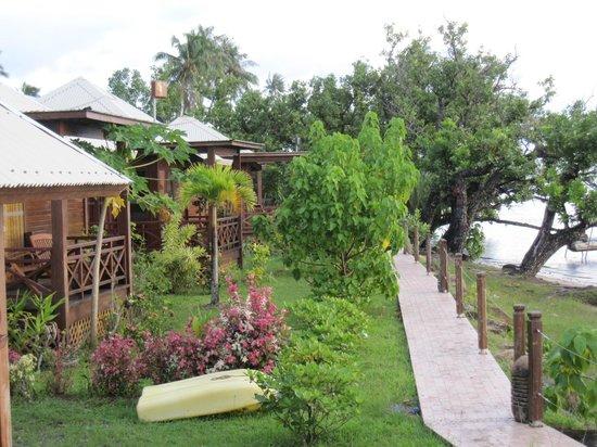 Petit Hotel Familial Fare Vai Nui : très beau cadre