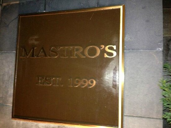 Mastro's Steakhouse - Costa Mesa: Sign outside