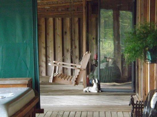 Starlight Plantation: Porch on the back