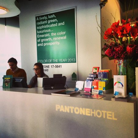 Pantone Hotel: Thats the helpful girl at the reception! Cant remember her name tho.