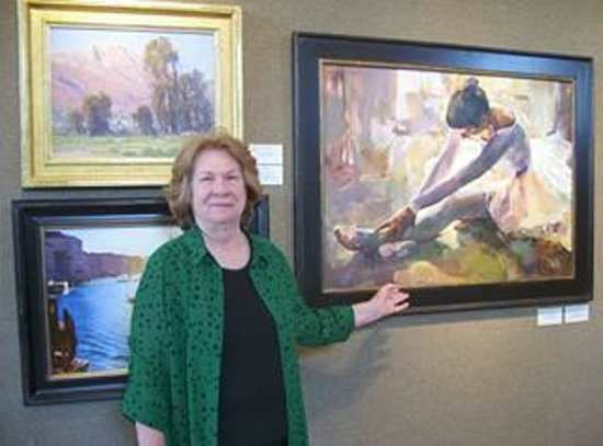 Oil Painters of America National Juried Exhibition: Me showing one of the paintings
