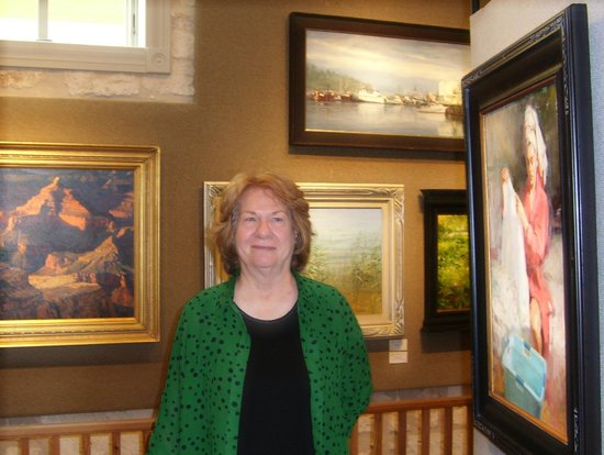 Oil Painters of America National Juried Exhibition: Me with some of the paintings