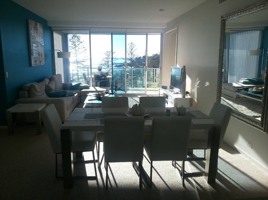 Nirvana By The Sea: From kitchen thru living/dining to balcony