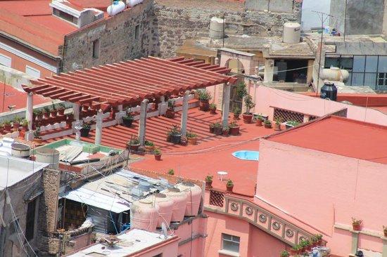 Posada Santa Fe: En el techo tiene un jacuzzi y una gran vista