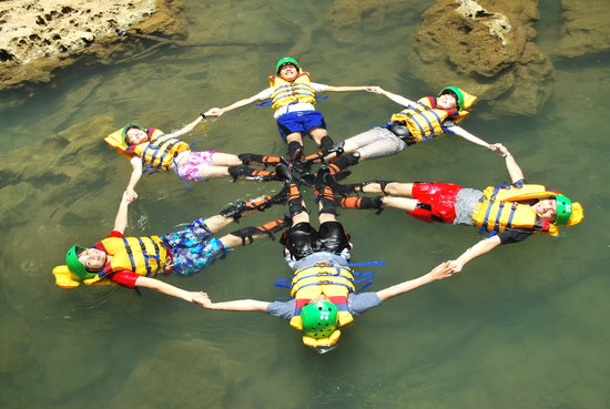 Green Canyon : Formasi Body Rafting