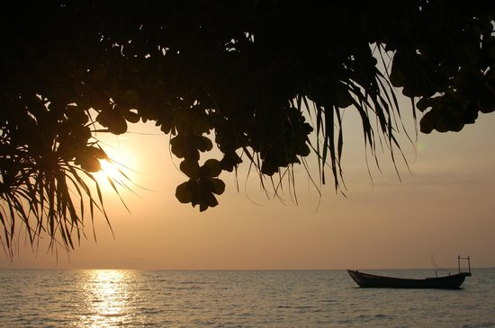 Kep, Cambodja: Beautiful sunset