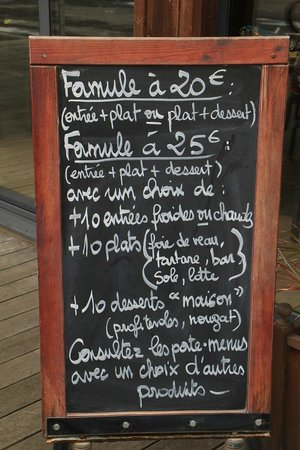 L'Ecluse: Les formules (mai 2013)