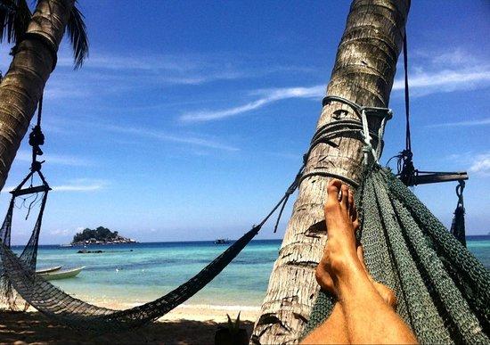 Salang Hut : Beach right outside the huts!