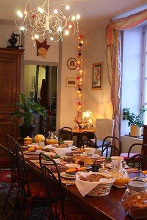 Castelnau-d'Aude, Prancis: salle à manger