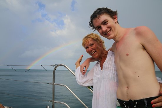 Samui Ocean Sports & Yacht Charter - Day Tours: A real double rainbow after a short rain shower!