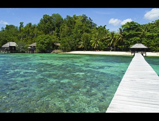Kadidiri Paradise Dive Resort: View from the jetty