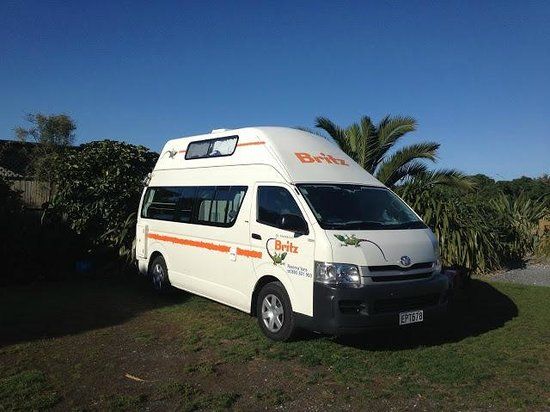 Kaikoura Top 10 Holiday Park: Our camper in it's spot