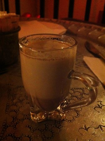 Habibi: traditional palestinian hot milk drink flavoured with cardamom pods