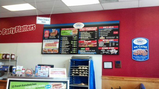 Lenny's Sub Shop: Order Here