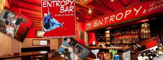 Entropy Bar: www.facebook.com/EntropyBar for special deals