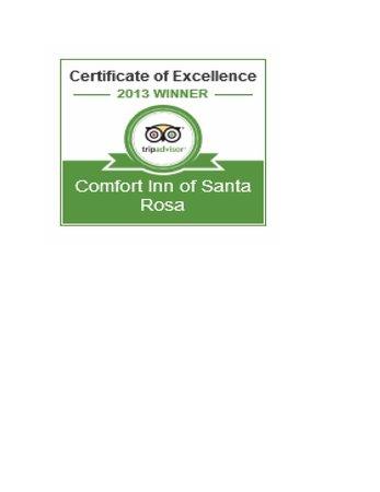Comfort Inn Santa Rosa: Award of Excellence 2013