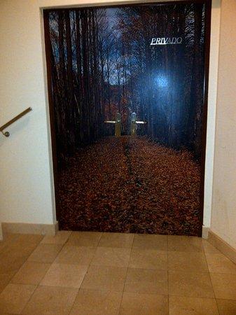 Hotel Spa Norat Torre do Deza: Las puertas de la planta bajas, decoradas muy bonitas!