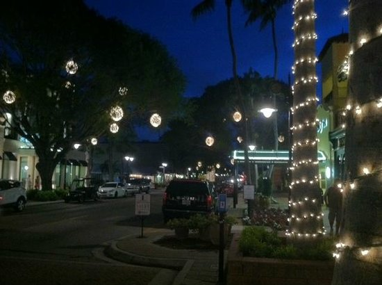 Nighttime Lights Picture Of Fifth Avenue South Naples